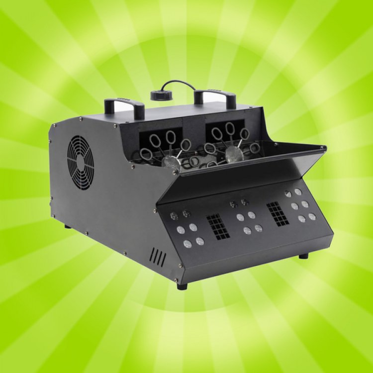Bubble Fog Machine with LED Lights 3 In 1 Double Bubble